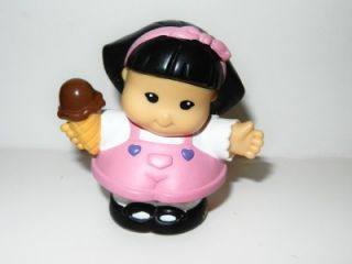 Fisher Price Little People Sonya Lee Girl in Pink Dress with Ice Cream