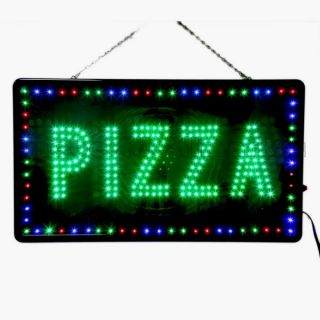 New Large LED Pizza Business Open Sign with Motion Switch 27 2x15 5 U