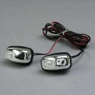2X White LED Light Windscreen Washer Water Jets 12V Car