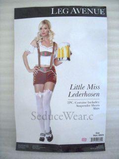 Beer Maid Miss Lederhosen Adult Halloween Costume New