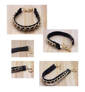 Apartment Design Fashion Jewelry Leather Chain Cuff Bracelet Bracelets