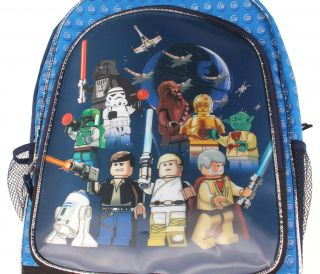 Lego Star Wars Characters Backpack Hans Luke Chewbacca R2D2 C3PO Vader
