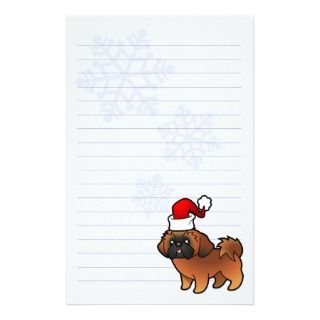 Christmas Shih Tzu (red puppy cut) stationery by SugarVsSpice