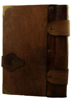 Axe Cast Brown Leather Bound Journal Notebook Diary Sketchbook
