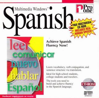 Multimedia Spanish PC CD Learn to Read Language Vocabulary Words