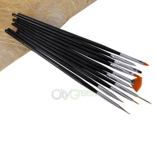 10pcs Nail Art Design Polish Brush Painting Pen Set Drawing Liners