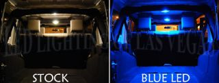 Ford F 150 Single Cab Blue Interior LED Light Bulb Kit
