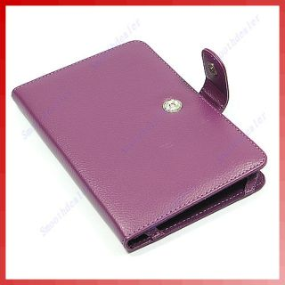 Book Leather Case Cover for  Kindle 3 3G Purple