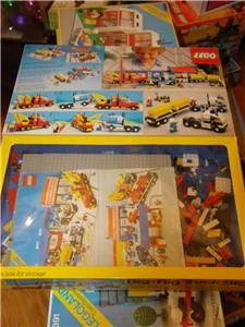 Lego Legoland Town System 6393 Big Rig Truck Stop Box Instructions and