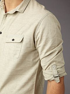 Label Lab Linen marl shirt Ecru