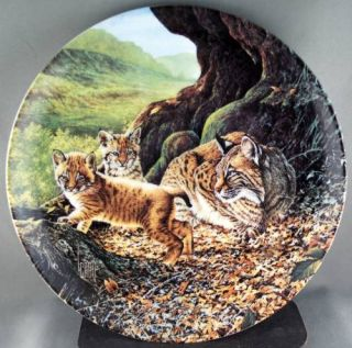 Lee Cable The Bobcat Great Cats of The Americas Collector Plate