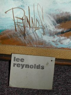 Large Lee Reynolds Painting with Vintage Walnut Frame