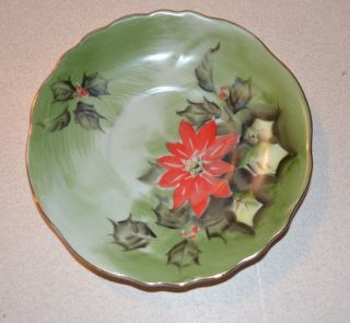 Lefton Limited Edition Poinsettias Tea Cup and Saucer Estate Find