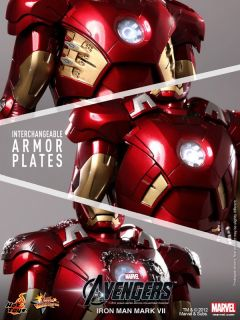 Hot Toys The Avengers 2012 Ironman Mark VII Tony Stark Battle Damage
