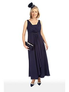 Jacques Vert Monique chiffon maxi dress Navy