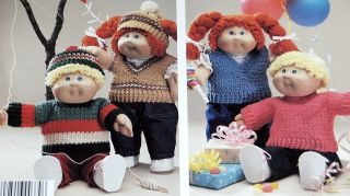 Leisure Arts 379 Soft Sculpture Doll Clothes to Crochet