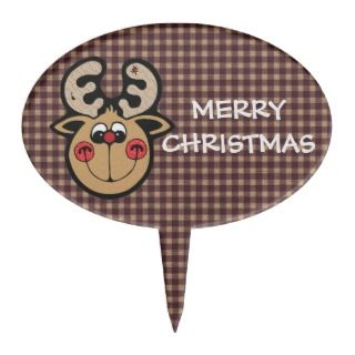 rudolph red nose reindeer cake topper