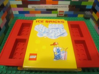 Lego 852768 Red 2x4 Bricks Silicone Ice Tray Chocolate Candy Mold