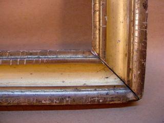 1850s Oblong Lemon Gilt Gold Picture Frame