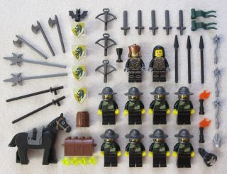 10 New Lego Castle Knight Minifig Lot Kingdoms Dragon Figures