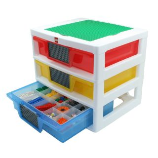 New Lego Table Top Kids Play Area Sorting Drawer Storage Unit Base