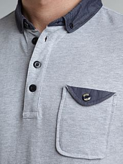 Gio Goi Pique polo shirt Grey   House of Fraser