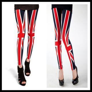 Sexy Women UK British Flag Leggings Tights Skinny Legwear Pants