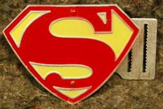 1955 Kelloggs Mail Away SUPERMAN BELT & BUCKLE Corp National Comic