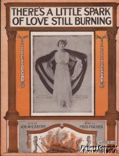 1914 Theater Alma s Return Sheet Music There s A Little Spark of Love