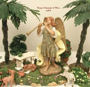 Fontanini Depose Italy Lemuel Herald Angel Nativity Box