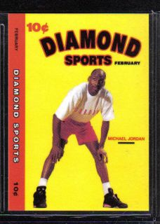 Michael Jordan RARE 1990 91 Diamond Sports Card Bulls North Carolina