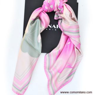 Brand New Leonard Scarf Pink Floral Square Women $360