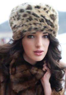 Donna Salyers Fabulous Furs Golden Fox Faux Fur Russian Style Hat