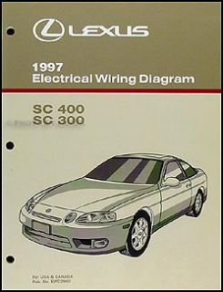 1997 Lexus SC 300 400 Wiring Diagram Manual SC300 Sc400