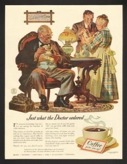 1941 J C Leyendecker Doctor Art Coffee Bureau Print Ad