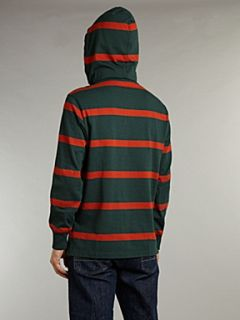 Polo Ralph Lauren Hooded striped rugby top Forest Green   House of