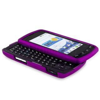 Purple Clip on Rubberize Hard Skin Case Cover for LG Ally VS740