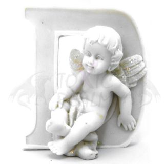 Cherub Angel Small White Wall Decor Cake Topper TR5545 Shelf Sitter