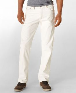 Levis Mens 505 Straight Fit Jeans Bright White 0561