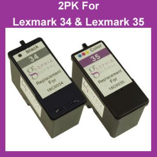 Combo Pack Ink Cartridge for Lexmark 34 35 X5075 X5250 X5270 X5470