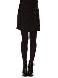 Kookai Tartan check wrap skirt Grey