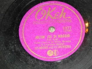 Les Brown Joltin Joe DiMaggio Okeh 6377 78 RPM Record