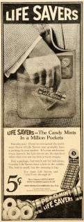 1917 Ad Life Savers Candy Mint MacLean Kraft Nabisco   ORIGINAL