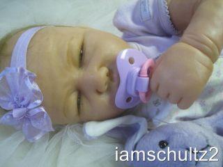 OOAK Lifelike Life Size 19 Linda Spahic Resin REBORN Newborn Baby Doll