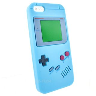 Light Blue Game Boy Silicone Gel Skin Case Cover Apple iPhone 5 5G 6TH