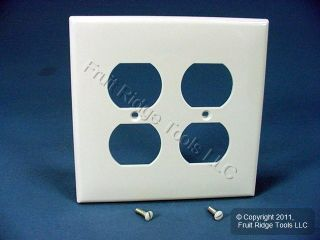Leviton White Large Unbreakable Receptacle Outlet Cover