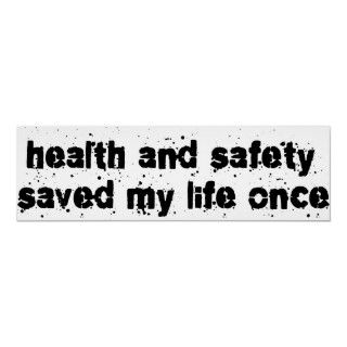 Health and Safety Saved My Life Once. Get this fun design featuring