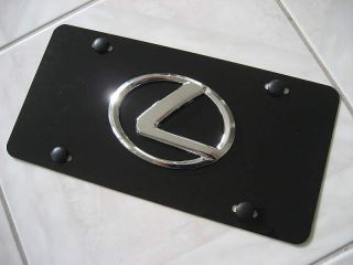 Lexus 3D Logo Black Aluminum License Plate