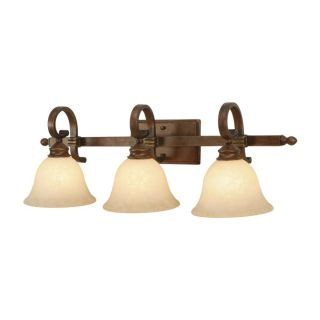 NEW 3 Light Bathroom Vanity Lighting Fixture, Champagne Bronze, Tea