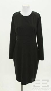 Lida BADAY Black Exposed Zipper Long Sleeve Dress Size 12